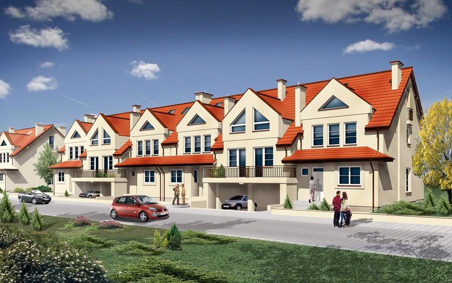 osiedle przy osiedlowej lomianki domy szeregowe wizualizacja 01 1