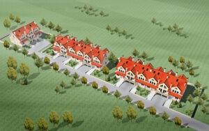 osiedle przy osiedlowej lomianki domy szeregowe wizualizacja 02